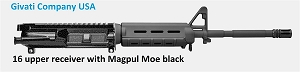 AR 15 16 UPPER RECEIVER WITH MOE