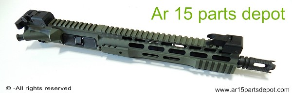 "Ar 15 upper receiver 10.5"" with 10"" free float complete assembly OD green Preview"