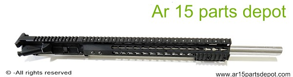 "Ar 15 upper receiver 20"" stainless barrel 15"" free float 223 wylde"