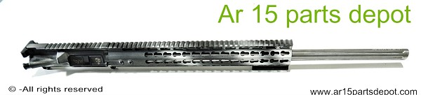 "Ar 15 upper receiver 24"" stainless barrel 15"" free float 223 wylde"